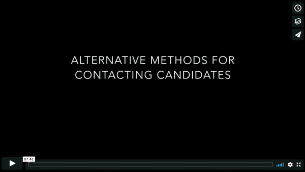 Alternative Methods for Contacting Candidates