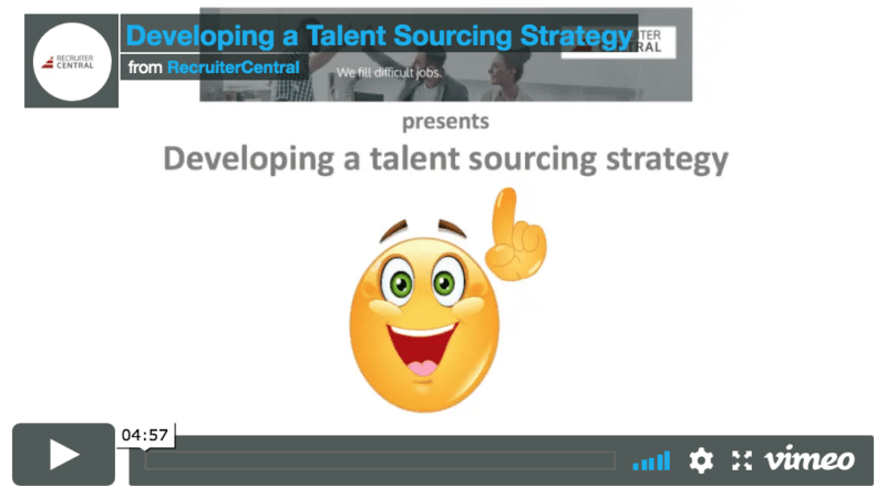 Developing a talent sourcing strategy