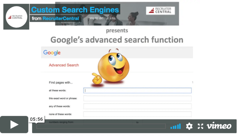 Google's advanced search function