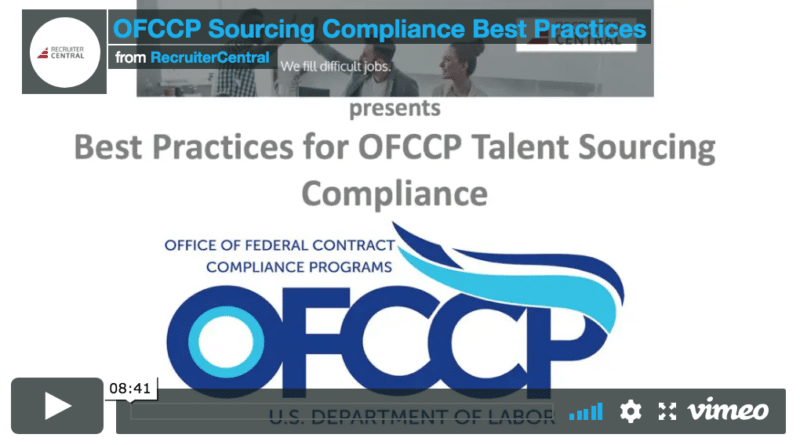 OFCCP Sourcing Compliance Best Practices