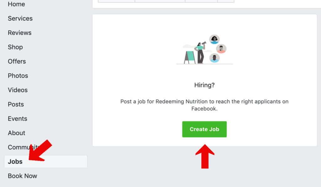 Create a Job Tab
